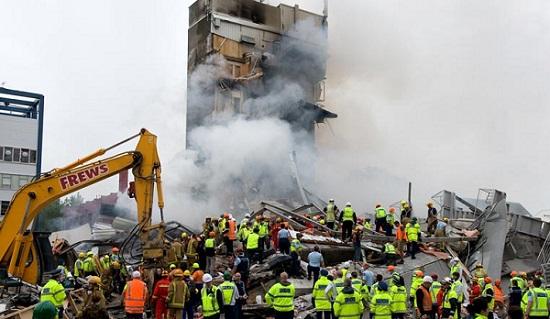 クライストチャーチ地震で倒壊したCTVビル